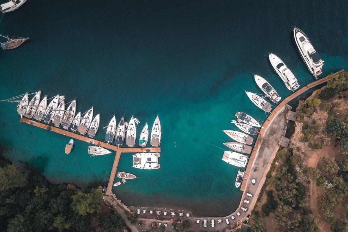 Göcek'te yatılı tekne turları